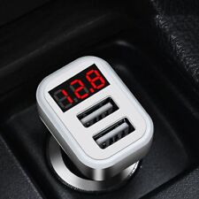HOCO Z3-2U Dual USB Ports Car Charger LCD Voltage Current Tester WA