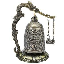 Retro Bronze Lock Dragon Carved Buddhist Bell Hot Chinese Artware Exquisite