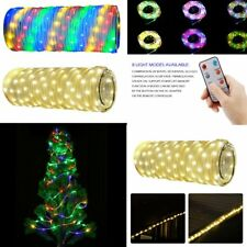 10M Waterproof 136LED Strip Light Remote Control Christmas Tree Decoration AG