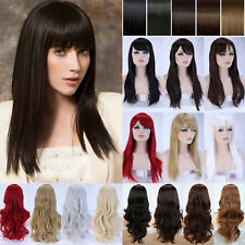 Fashion Halloween Costume Full Wig Long Curly Wave Straight Synthetic Hair Dress