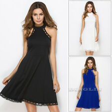 Women Summer Sleeveless Swing Dress Ladies Evening Party Beach Mini Dress HotHZ
