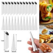 Cannoli Croissant Mold Cone Spiral Bread Baking Tube Stainless Steel Roll Horn