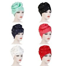 Ladies Floral Muslim Ruffle Cancer Chemo Hat Beanie Turban Head Wrap Cap Great