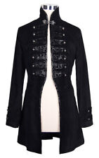 Jacket man black style military with embroidery gothic aristocra Devil Fashio