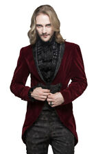 Man jacket velvet red, clip embroidered and col. decorated, elegant Devil Fashio