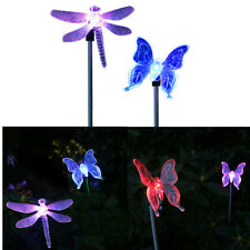 2X LED Solar Garden Stake Light Multi Color-Changing Butterfly Garden Decor W6T2