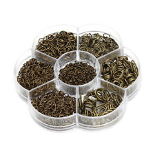 1 Box Mixed Size Iron Plated Jump Rings Unsoldered Split Rings Jewelry Making
