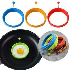 Silicone Round Egg Pancake Rings Mold Ring W Handles Nonstick Fried Frying R2X2