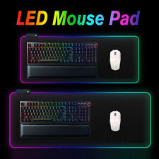 🔥 Extended RGB Colorful LED Lighting Gaming Keypad Mouse Pad Mat for PC