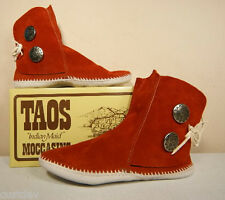 NEW TAOS INDIAN MAID MENS Rust LEATHER Moccasins 3000M