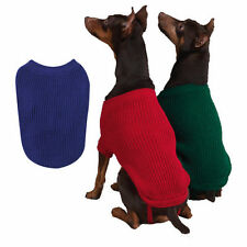 Dog Sweater Coat Shirt PJs Clothes Clothing Shaker Knit