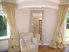 Pure Silk Curtains, Fully Custom Made Shantung Silk or Dupioni Silk Drapes.