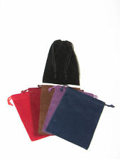 """VELOUR Gift Bag (6) Jewelry Pouches 4"""" x 5.5"""" crafting"""