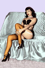 """Bettie Page 24""""x36"""" Giclee Photo  on Canvas"""