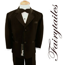 GINO Boy Brown Usher Tuxedo Suit Size From Baby to Teen