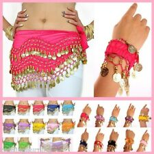 Belly Dance Hip Scarf Coin Belt+ Match Bracelets $3 P&H