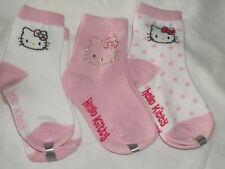 * NWT NEW 3PC HELLO KITTY SOCKS 5-6.5 6-8.5