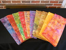 BATIK Jewel Tone Cotton Fabric 1/2yrd 10 Patterns Grp B