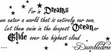 For In Dreams We Enter Vinyl Wall Decal Harry Potter