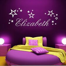 Your Name Personalised Stars, Vinyl Wall Art Sticker, Mural, Decal Kids Bedroom