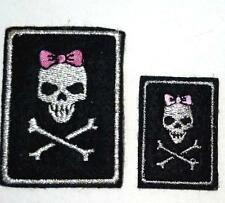 3pc Female Skull Embroideries Patches Iron On Upick Size PH156