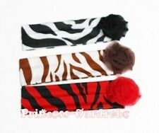 Zebra Print Headband Hair Band Chiffon Rose Pettiskirt