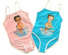 NWT Betty Boop Girls Swimsuit Bathers Cossie Size 4 6 8 10 12  ( Pink & Blue )