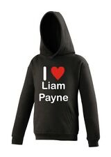 One Direction I Love Liam Payne AWDis Hoodies 4 colours with Red Sparkle Heart