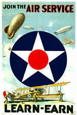 """JOIN THE AIR SERVICE- 20""""x32"""" Art on Canvas"""