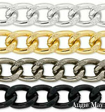 5 FEET! Non-Tarnish Aluminum 14x10mm Jewelry Large Twisted Curb Chain