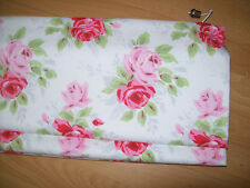 ROMAN BLIND in CATH KIDSTON rose white up to 70cm x 140 cm track lining
