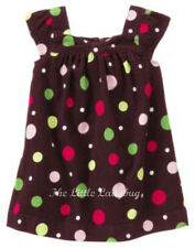 NWT Gymboree PUPS & KISSES Dark Plum Dot Corduroy Jumper Dress Girls Size 5T 5