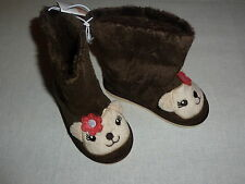 Gymboree FALL FOR AUTUMN Brown Faux Fur Hedgehog Boots NWT