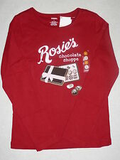Gymboree SWEET TREATS Rosie's Chocolate Shoppe Candy Red Top Shirt Tee NWT