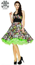 Hell Bunny ~B-MoVie~ 50's Halloween Monster Rock n Roll Party Dress 8-20 XS-4XL