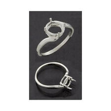 (9x7mm - 10x8mm) Oval Bypass Sterling .925 Ring Setting (Ring Sizes 6,7,8 )