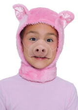 Animal Hood & Nose Pig, Rabbit, Donkey, Dog, Mouse, Chicken, Bear Fancydress