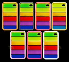Fits,iPhone 4 4G Case, Hard Back Case, Compatible To Fit Apple iPhone 4 Rainbow