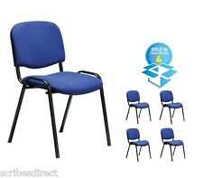 10 x Conference Stacking Chair With Optional writing Tablet with FREE delivery
