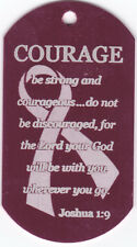 """Christian Dog Tag, Choice of Chain, Key or Necklace, 4.5"""" to 36"""" Faith Scripture"""