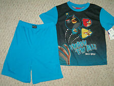 NWT Angry Birds Summer Pajamas Size's 4 - 6 - 8 - 10 Front & Back Design