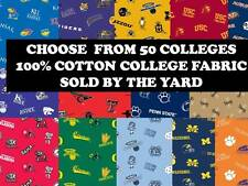 COLLEGE COTTON FABRIC-UNIVERSITY COTTON FABRIC-SOLD BY THE YARD-SCHOOLS P-Z #45