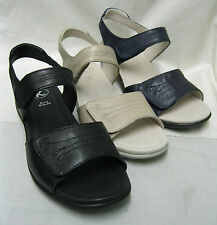 Ladies K by Clarks Open house Black,Navy and Ivory Leather Velcro Sandals