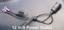 12 Volt Fused Power Outlet for Motorcycle, ATV, PWC, Snowmobile. MADE IN USA.