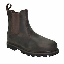 MENS SLIP ON CHELSEA DEALER SAFETY BOOTS WORK BOOTS SHOES STEEL TOE CAP RRP £49