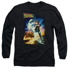 Back To The Future Poster Officially Licensed Adult Long Sleeve Shirt S-2XL