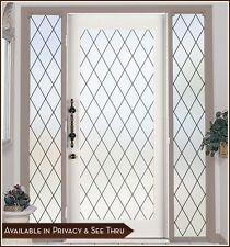 ORLEANS Privacy Frosted Window & Door Film with Leaded Glass Look - Static Cling