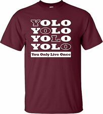 Adult YOLO You Only Live Once Drake OVO Y.O.L.O. YMCMB T-Shirt multiple colors
