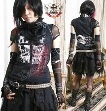 Gothic Punk Rock Visual Kei Jrock Gear Top w/ Arm Warmer Glove Neck Wrap Scarf