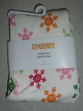 Gymboree CHEERY ALL THE WAY Ivory Snowflake Print Leggings Pants NWT 2 3 4